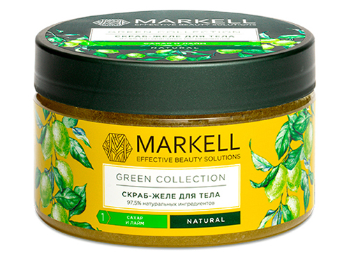 Markell. Green Collection. Скраб-желе для тела сахар и Лайм 250 мл