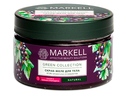 Markell. Green Collection. Скраб-желе для тела сахар и Черная смородина 250 мл
