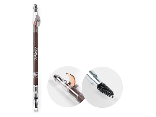 Kiss. Карандаш для бровей с точилкой Light Brown wooden pencil RBWP04