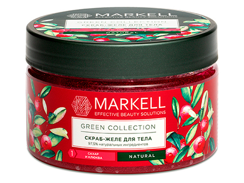 Markell. Green Collection. Скраб-желе для тела сахар и Клюква 250 мл