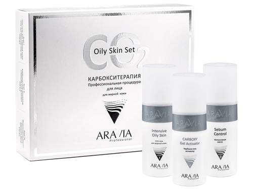 ARAVIA Professional. Карбокситерапия Набор CO2 Oily Skin Set для жирной кожи 150мл х 3шт